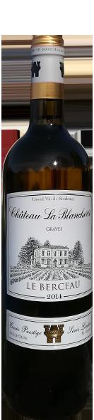 Le Berceau Blanc<br /> CHÂTEAU LA BLANCHERIE<br /> Cuvée Prestige
